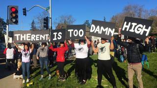 H13 uc santa cruz graduate students strike protest unaffordable housingcosts