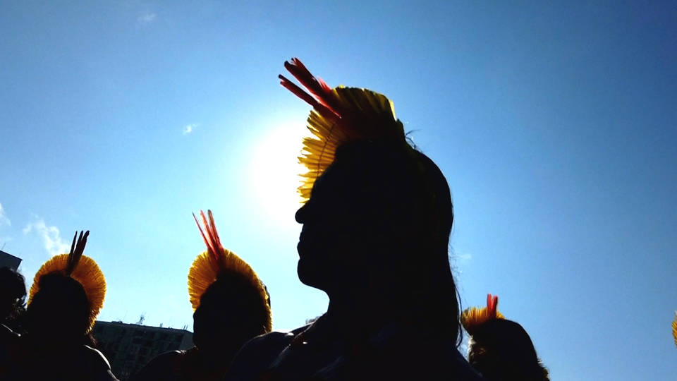 H10 indigenous brazil protest bolsonaros deforestation policies