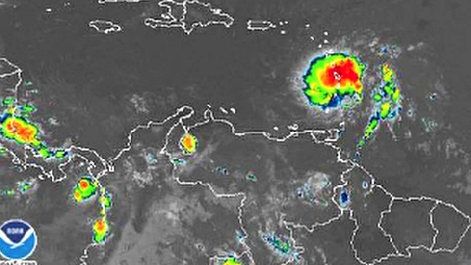 H11 tropical storm dorian puerto rico domican republic caribbean
