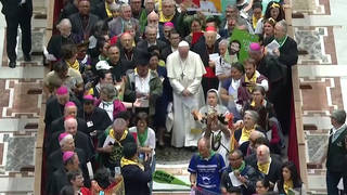 H14 pope francis amazon rainforest colonialism synod