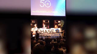 H3 jpmorgan chase fossil fuels protestors confront ceo jamie dimon ucla investments oil gas