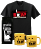 Coffee, Yellow Mugs, and T-shirt