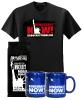 Coffee, Blue Mugs and T-shirt