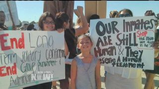 Cal hungerstriker protest 2