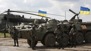 Ukraine troops