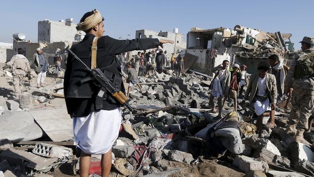 Yemen air strikes destruction 3