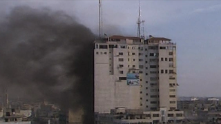 Journalism building gaza