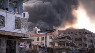 Yemen bombed buildings