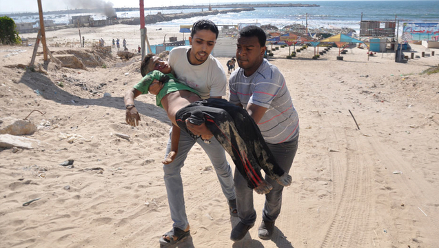 Gaza israel protective edge beach children killed bakr 1