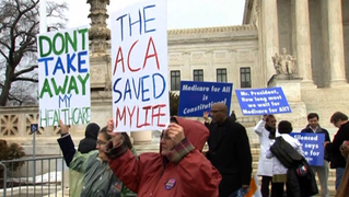 Aca obamacare protest supremecourt