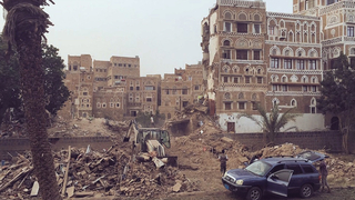 Yemen saudi destruction airstrikes houthi 1