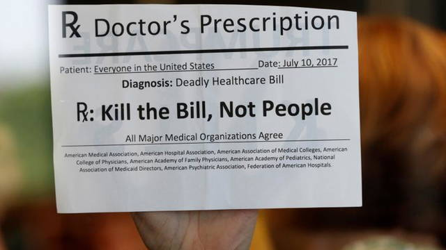 S01 health protest sign
