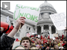 """Today is a Serious Showdown"": Thousands Occupy Wisconsin Capitol Building Ahead of Anti-Union Vote"