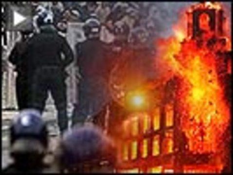 London riots button