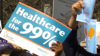 Seg healthcareforthe99percent sign