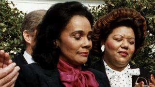 Reading Coretta Scott King Letter Outside Mcconnell S House Washington Post