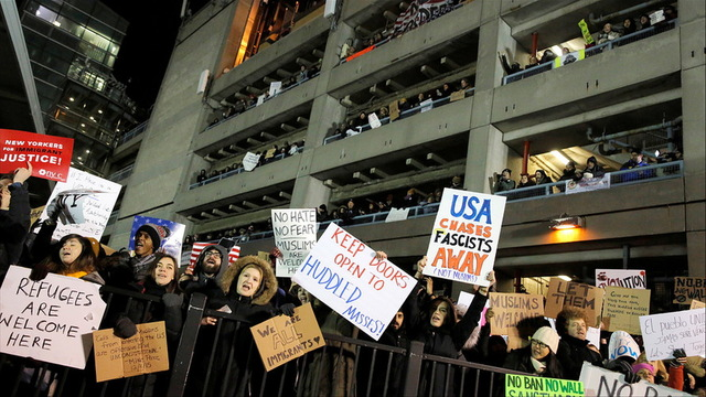 S1 jfk protest muslim ban
