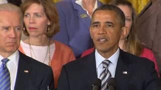 Obama presser guns