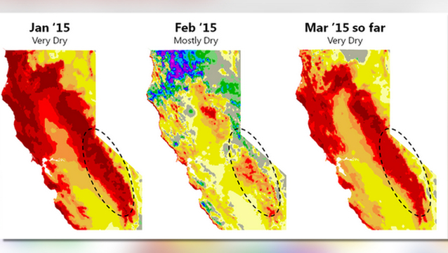 California drought map 1