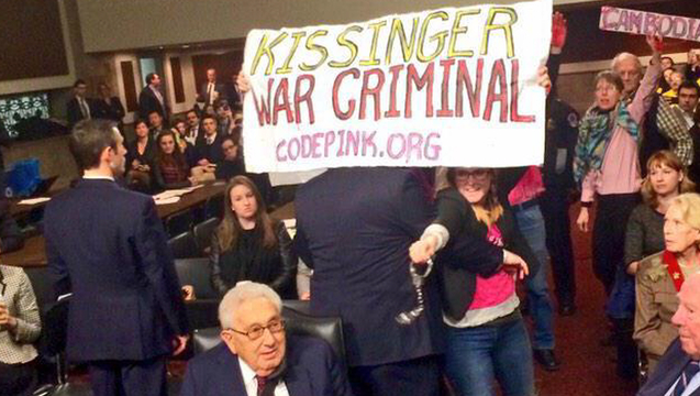 Kissinger protest codepink 2
