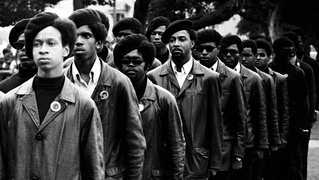 scene from Vanguard of the Revolution film about the Black Panthers