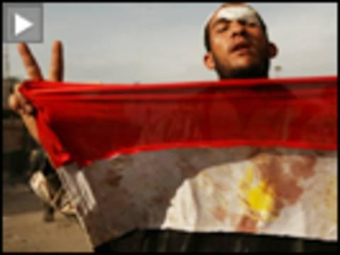 Battle in tahrir