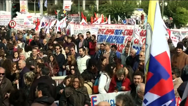 Greece march anti austerity syriza