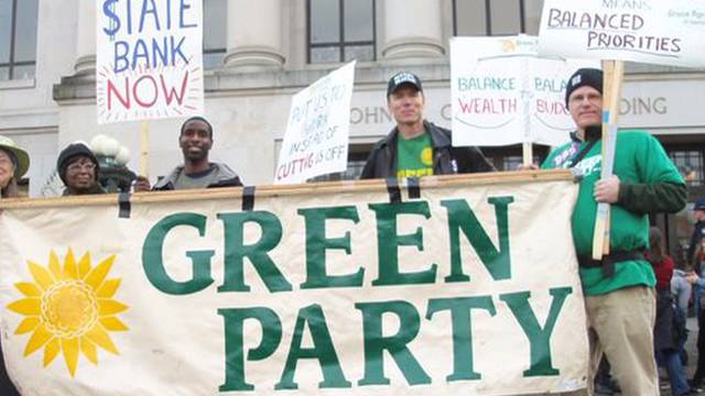 Green party international banner