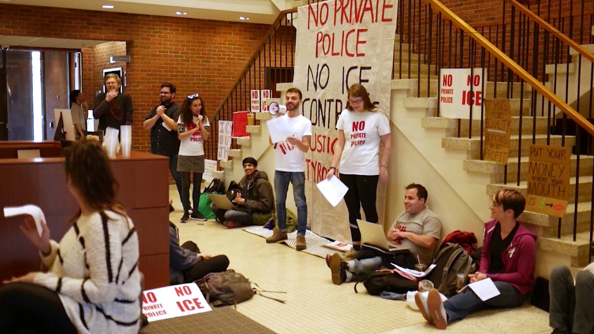 Johns Hopkins Students Enter Week 4 of Sit-In Protesting ICE