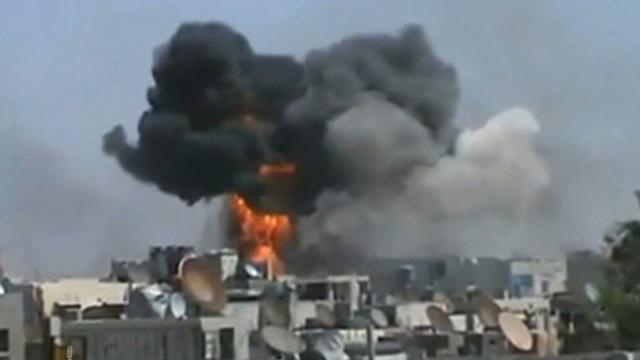 Button syria explosion