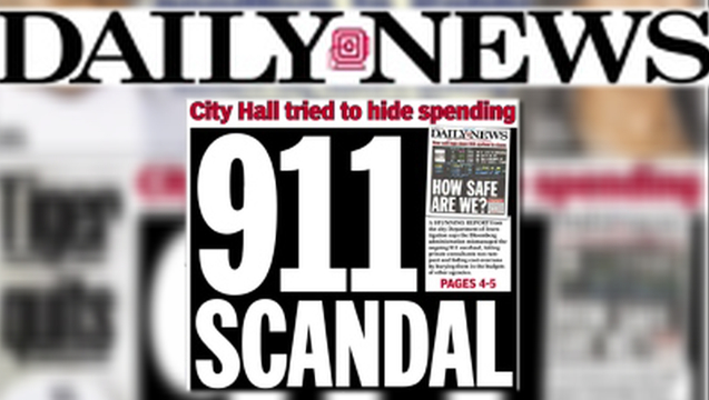 Nydailynews cover 911 scandal 1