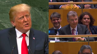 Seg trump un germany laughing
