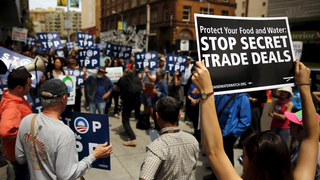 Tpp trans pacific partnership protest fast track 1