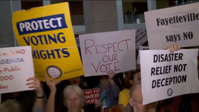 Nc protest signs