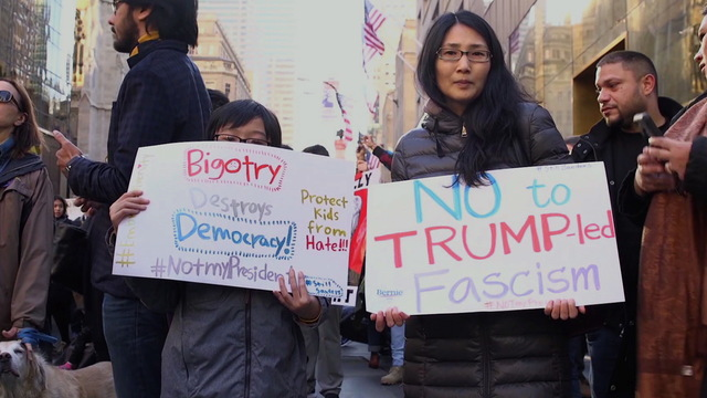 S3 nyc march signs
