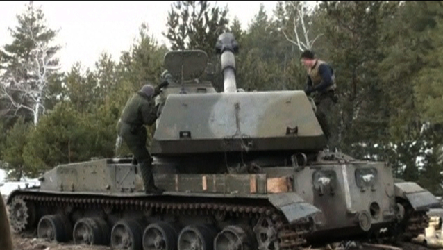 Ukraine rebels tank russia