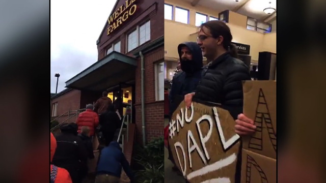 S6 wells fargo protestors split