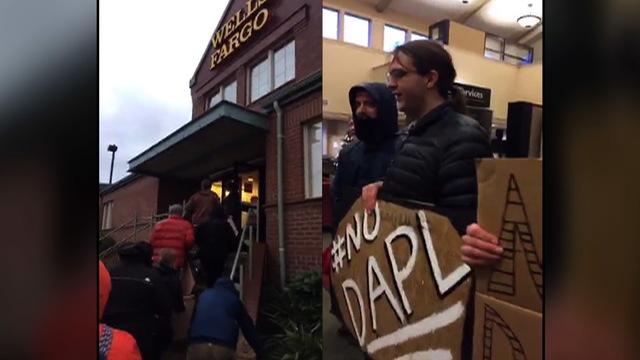 S6 wells fargo protestors split