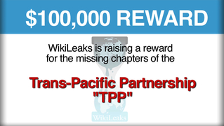 Wikileaks tpp reward chapters trans pacific partnership