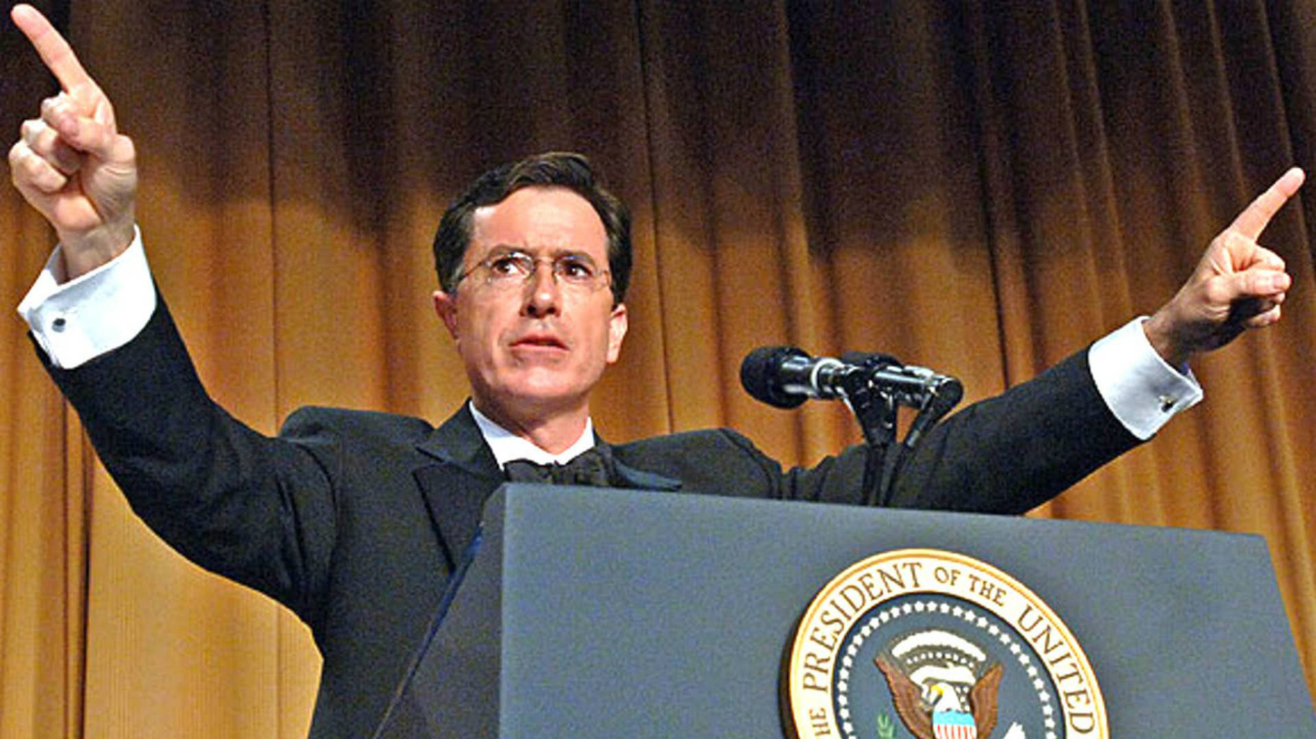 stephen colbert's blistering performance mocking bush and the