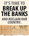 A New Way Forward: Protests Scheduled Across the Country Calling on Banks to Nationalize, Reorganize, Decentralize