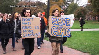 s3 grad student walk out