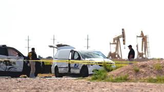 S1 texas odessa midland shooting aftermath stolen postal vehicle0
