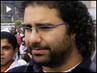 """We Are Not Going Home Until This Regime Leaves"": Egyptian Blogger Alaa Abd El Fattah Reports from Cairo"