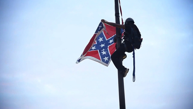 Bree newsome climbs south carolipitol confederate flag remove 1