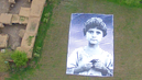 Not a Bug Splat: Artists Confront U.S. Drone Operators with Giant Picture of Pakistani Child