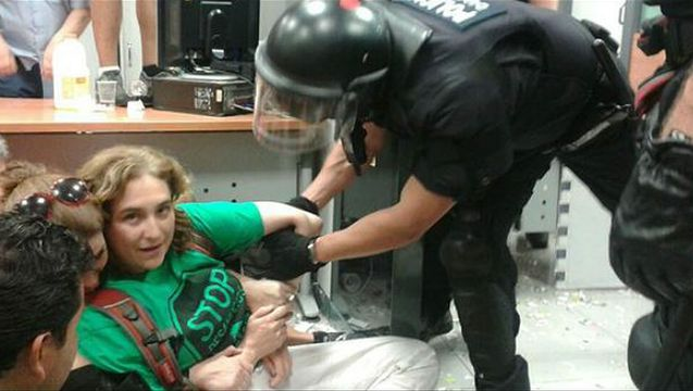 Ada colau barcelona mayor arrested occupy