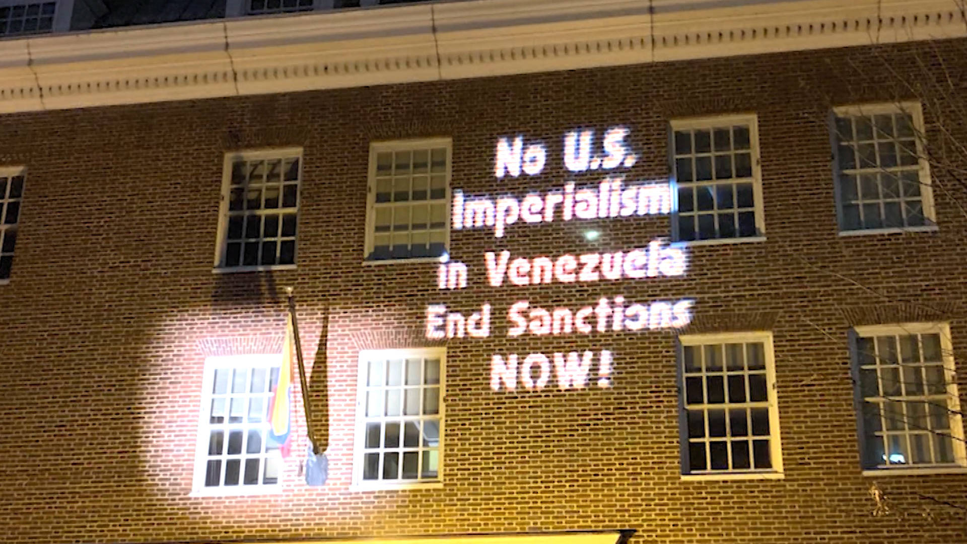 photo image Despite Threats & No Electricity, Anti-Coup Activists Remain Inside Venezuelan Embassy in D.C.