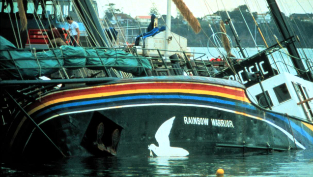 Greenpeace rainbow warrior bombing sunk