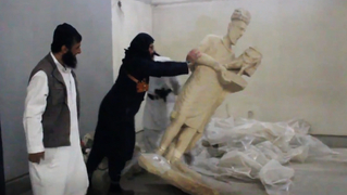 Isil mosul museum statues destroyed 9